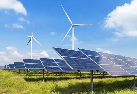 Solar Wind Hybrid power plant