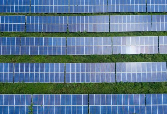 Solar Panels in a Ground mounted Solar PV system