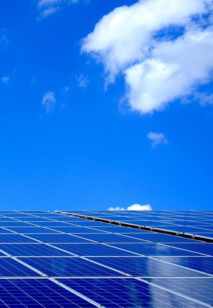 Solar panels producing solar energy enabling a cleaner enviornment in Mumbai