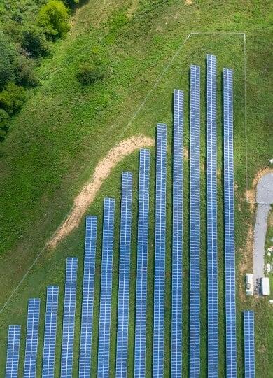Large Ground Mounted Solar Power Plant